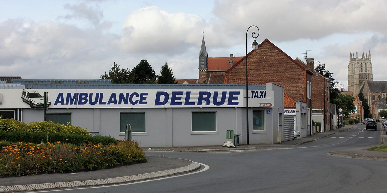 Ambulance Delrue - Aire sur la Lys - Saint Omer - Calais - Boulogne sur mer - Dunkerque - Berk sur mer - Bruay la buissiere - Lille